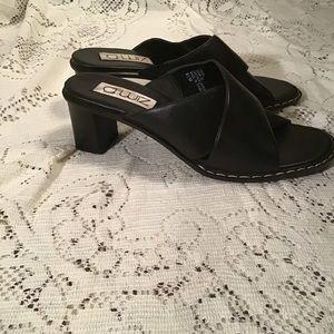 g. wiz Shoes - G. Wiz Leather Crisscrossed Open Toe Mule